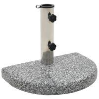 vidaXL päevavarju alus, graniit, 10 kg kaarjas, hall