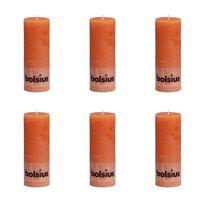 Bolsius maalähedane sammasküünal 190 x 68 mm oranž 6 tk