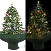 vidaXL lumesajuga jõulukuusk vihmavarjualusega roheline 75 cm