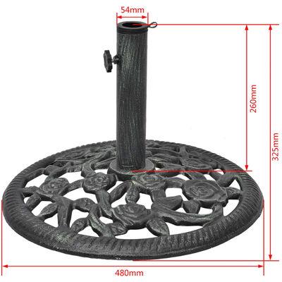 vidaXLi päikesevarju alus, malm 12 kg 48 cm