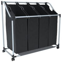 Musta pesu sorteerija 4 kotiga, must