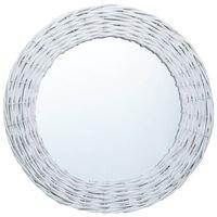 vidaXL peegel, valge, 50 cm, vitstest