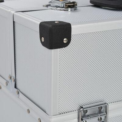 vidaXL tööriistakohver, 43,5 x 22,5 x 34 cm, hõbedane, alumiinium