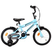 vidaXL laste jalgratas 14'', must ja sinine