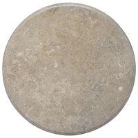 vidaXL lauaplaat, hall, Ø 70 x 2,5 cm, marmor