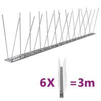vidaXL 2-realine roostevabast terasest linnupiigid, 6 tk, 3 m