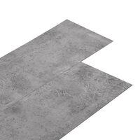 vidaXL PVC-st põrandaplaadid, 4,46 m² 3 mm, tsementpruun