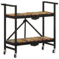 vidaXL köögikäru, 87 x 36 x 81 cm, toekas taastatud puit