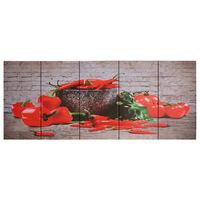 vidaXL seinamaalikomplekt lõuendil, paprika, värviline, 200 x 80 cm