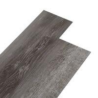 vidaXL PVC põrandaplaadid, 4,46 m² 3 mm, triibuline puit