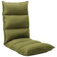 vidaXL kokkupandav põrandatool, roheline, kangas