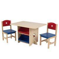 KidKraft tähtedega laua ja 2 tooli komplekt