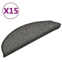 vidaXL trepivaibad 15 tk, tumehall, 56 x 17 x 3 cm