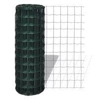 vidaXL traataed, teras, 25 x 1,5 m, roheline