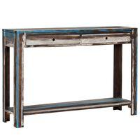vidaXL konsoollaud toekast puidust, vanaaegne, 118 x 30 x 80 cm