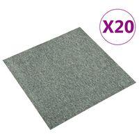 vidaXL põranda plaatvaibad 20 tk, 5 m², 50 x 50 cm, roheline