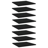 vidaXL riiuliplaadid 8 tk, must, 40x40x1,5 cm, puitlaastplaat