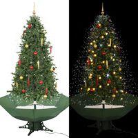 vidaXL lumesajuga jõulukuusk vihmavarjualusega roheline 190 cm