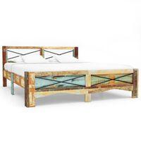 vidaXL voodiraam, taastatud puit, 140 x 200 cm