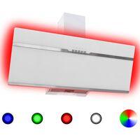 vidaXL RGB pliidikubu LED 90 cm roostevaba teras ja karastatud klaas