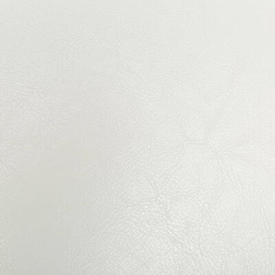 vidaXL tugitool jalapingiga, valge, kunstnahk