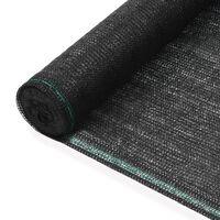 vidaXL tenniseväljaku võrk, HDPE, 1,4 x 50 m, must