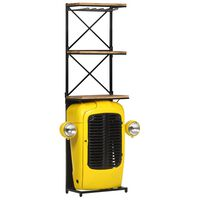 vidaXL traktorikujuline veinikapp kollane 49 x 31 x 170 cm, mangopuit