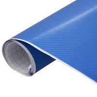 vidaXL autokile, matt, 4D, sinine, 200 x 152 cm