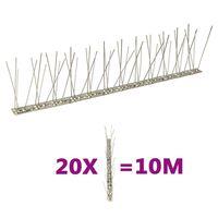vidaXL 2-realised roostevabast terasest linnupiigid, 20 tk, 10 m