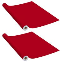 vidaXL iseliimuvad mööblikiled, 2 tk punane, 500 x 90 cm, PVC