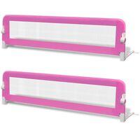 vidaXL voodiäär väikelapse voodile, 2 tk, 150 x 42 cm, roosa