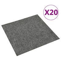 vidaXL põrandavaiba plaadid 20 tk, 5 m², tumehall