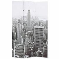 vidaXL kokkupandav sirm 120 x 170 cm, New York, must valge