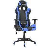 vidaXL võidusõiduistme disainiga kontoritool kunstnahast, sinine