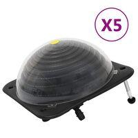 vidaXL basseini päikesetoitel küttekeha 5tk 75x75x36cm HDPE alumiinium