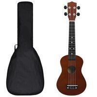 """vidaXL sopran ukulele komplekt kotiga lastele tume puit 23"""""""
