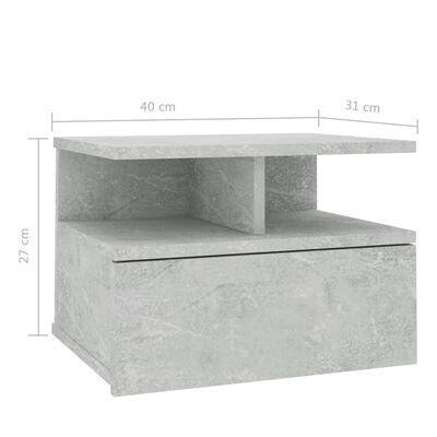 vidaXL seina öökapp betoonhall 40 x 31 x 27 cm puitlaastplaat