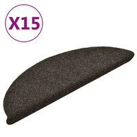 vidaXL isekleepuv trepivaip 15 tk, helepruun, 56x17x3 cm, aastehnika