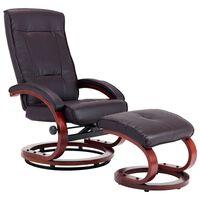 vidaXL allalastava seljatoega tool, jalapingiga, pruun, kunstnahk