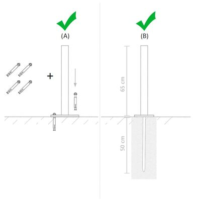 vidaXL terasjalad asendamiseks 2 tk 115 cm hõbedane