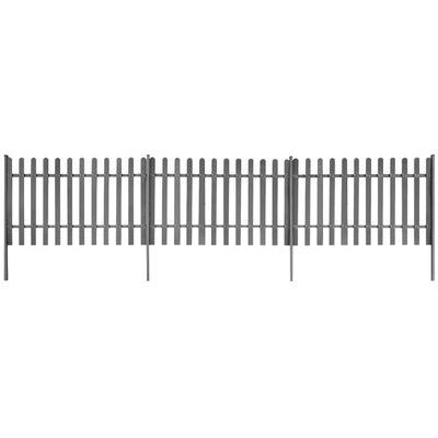 vidaXL lippaed 3 postiga, WPC, 600 x 100 cm