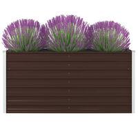 vidaXL kõrge peenrakast 160x80x45 cm, tsingitud teras, pruun