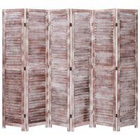 vidaXL 6 paneeliga sirm, pruun, 210 x 165, puit