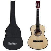 """vidaXL 12-osaline klassikalise kitarri komplekt algajatele 4/4 39"""""""