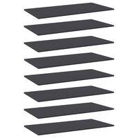 vidaXL riiuliplaadid 8 tk, hall, 80x20x1,5 cm, puitlaastplaat