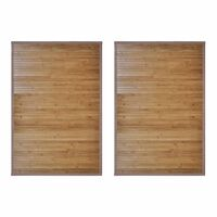 vidaXL bambusest vannimatid 2 tk,  60 x 90 cm, pruun