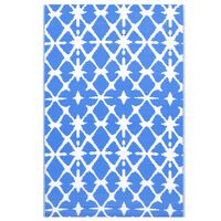 vidaXL õuevaip, sinine ja valge, 80 x 150 cm, PP