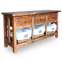 vidaXL taaskasutatud puidust puhvetkapp 100 x 30 x 50 cm