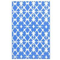 vidaXL õuevaip, sinine ja valge, 120 x 180 cm, PP