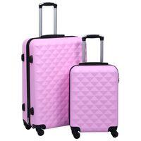 vidaXL kõvakattega kohver 2 tk roosa ABS